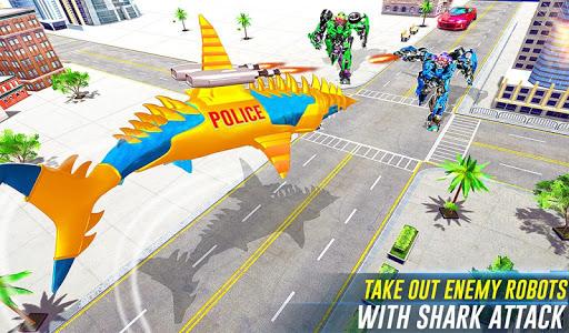 Robot Shark Attack: Transform Robot Shark Games 24 screenshots 9