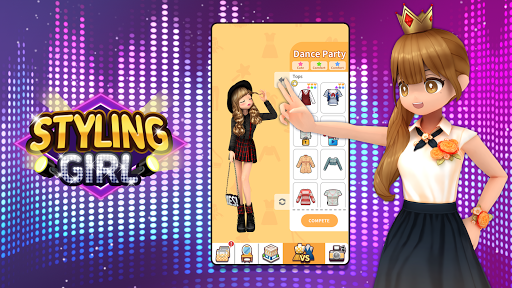 Styling Girl - 3D Dress Up Game apkpoly screenshots 7