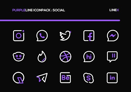 PurpleLine Icon Pack APK [PAID] Download for Android 2
