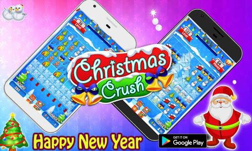 christmas crush 2020 - free xmas & santa games screenshot 2