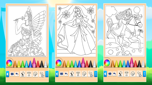 Princess Coloring Game 15.3.8 Screenshots 13