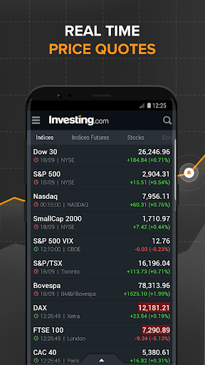 Foto do Investing.com: Stocks, Finance, Markets & News