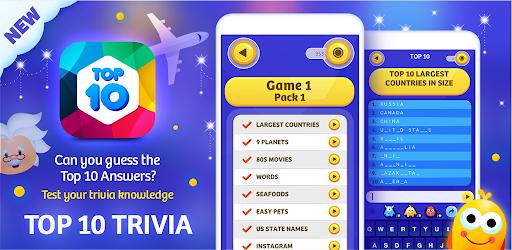 TOP 10 TRIVIA -  Quiz Questions screenshots 20