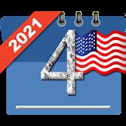 USA Calendar with Holidays 2021