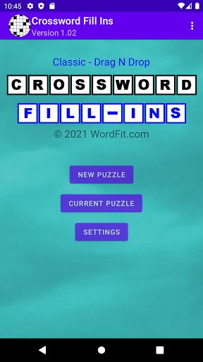 Classic Drag-n-Drop Crossword Fill-Ins 1.21 screenshots 1