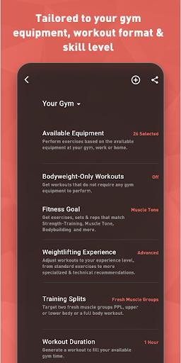 Fitbod Workout & Fitness Plans 2.0.3 Screenshots 7