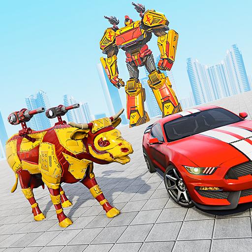 بقرة روبوت ألعاب السيارات: ألعاب الروبوت التحول