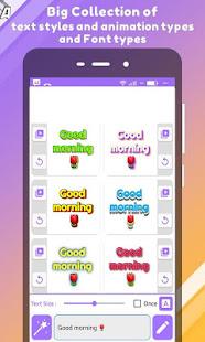 Editable animated text Gif -Video maker - creator