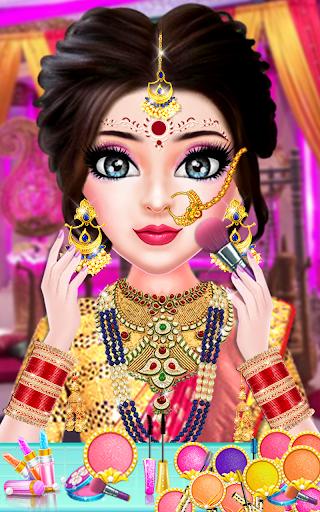 Indian Stylist Bride Dress up & Makeup Beauty Game screenshots 11