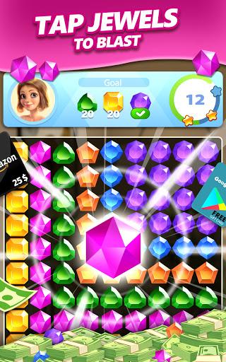 Jewel Blast & Diamond Crush Puzzle Game to BIG WIN android2mod screenshots 8