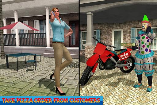 Scary Clown Boy Pizza Bike Delivery apkdebit screenshots 2