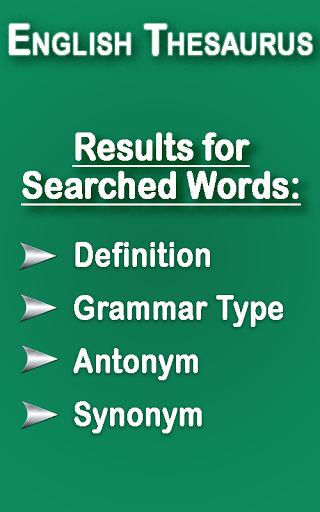 English Thesaurus 3.3 screenshots 1