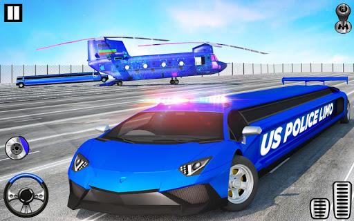 US Police Limo Transport, Aeroplane transport Game  screenshots 2