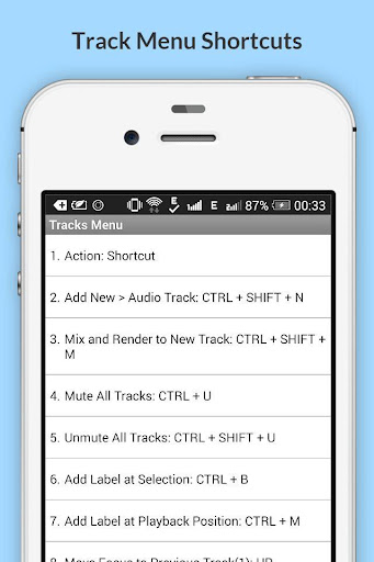 Free Audacity Shortcuts 6.6.6.2 Screenshots 6