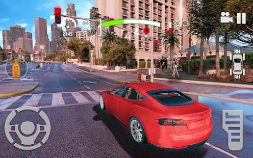 Electric Car Simulator 2021: City Driving