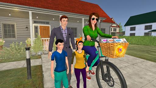 Working Mom Newspaper Girl Family Games  screenshots 3