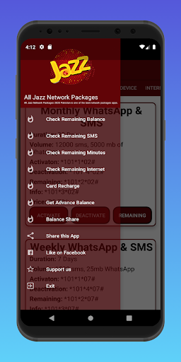 Jazz Warid Packages 2021 | Jazz Warid Packages New android2mod screenshots 3