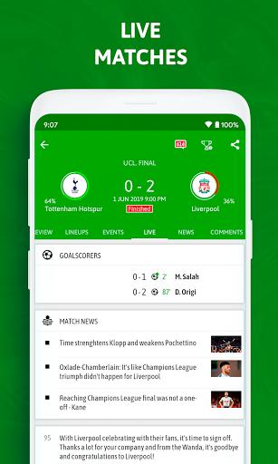 BeSoccer - Soccer Live Score 5.2.2.1 Screenshots 2
