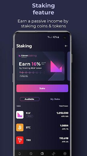 Klever Wallet: Buy Bitcoin, Ethereum, Tron, Crypto  Screenshots 5