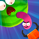 Worm out: ゲームパズル。クールなヘビゲーム。ワームゲーム & カラーワームゲーム - Androidアプリ