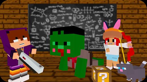 Monster school 3 Herobrine vs zombie apocalypse apkdebit screenshots 1