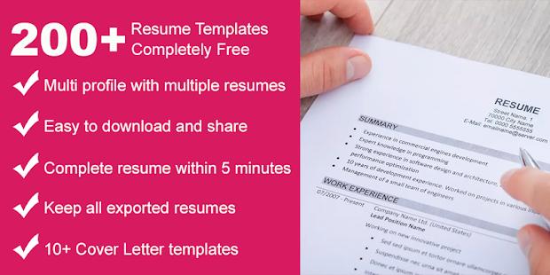 Resume Builder Cv Maker App Free Apps On Google Play