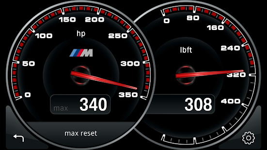 M Performance Drive Analyser Screenshot