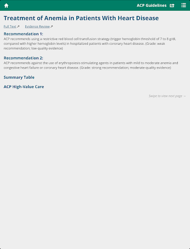 ACP Clinical Guidelines 3.0.4 Screenshots 6
