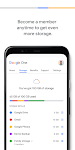 screenshot of Google One