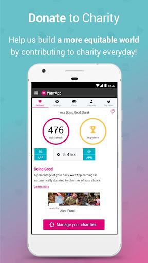 WowApp - Earn. Share. Do Good 78.0.1 Screenshots 4