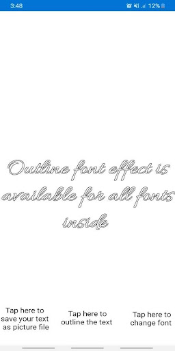 Free Fonts - outline fonts and write calligraphy 27.0 Screenshots 1