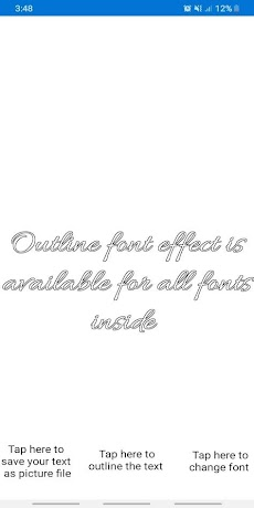 Free Fonts - outline fonts and write calligraphyのおすすめ画像1