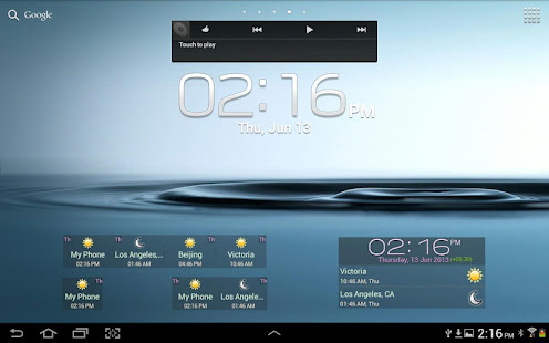 Digital World Clock Widget