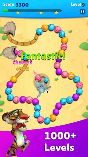 Marble Wild Friends - Shoot & Blast Marbles apkmr screenshots 2