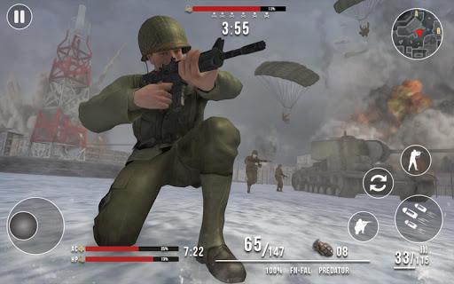 World War 2 Winter Heroes - Free Shooting Games 1.2.2 screenshots 7