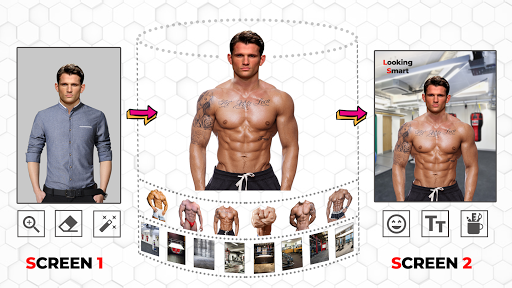 Body Builder Photo Suit (Six pack abs editor) android2mod screenshots 8