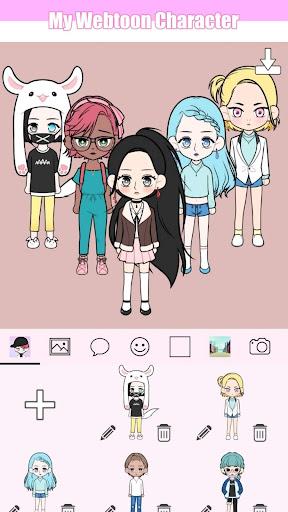 My Webtoon Character - K-pop IDOL avatar maker 2.6.0 screenshots 2