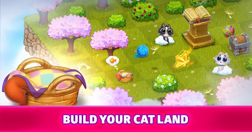 Merge Cats : Land of Adventures apkpoly screenshots 4