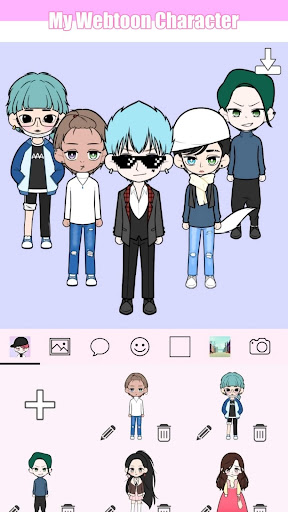 My Webtoon Character - K-pop IDOL avatar maker modiapk screenshots 1