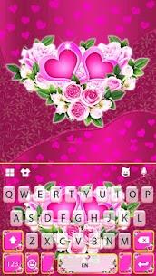 Pink Rose Flower Keyboard Theme 5