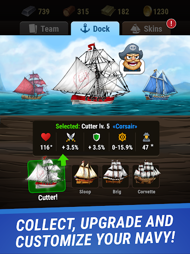Pirates & Puzzles - PVP Pirate Battles & Match 3 Apkfinish screenshots 7