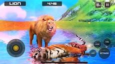 ライオン対トラ野生動物シミュレータゲームのおすすめ画像2