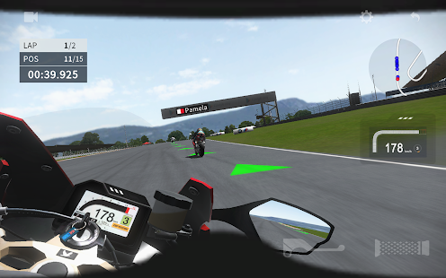Schermata di Moto 2 reale