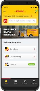 DHL Express Mobile 2.6.0 Screenshots 1