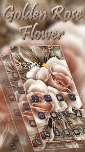 Golden Rose Flower Theme