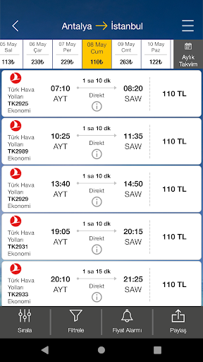 Ucuzabilet - Flight Tickets 3.1.8 Screenshots 3