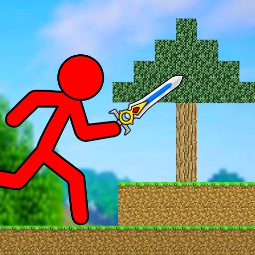 Red Stickman - Animation Parkour Fighter
