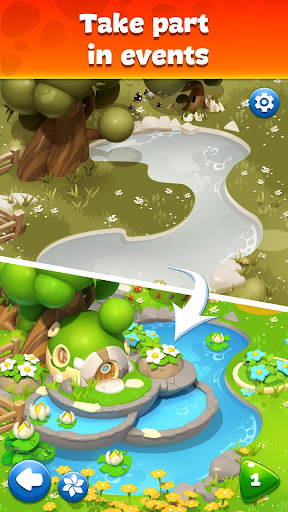 Gemmy Lands: Gems and New Match 3 Jewels Games apkslow screenshots 1