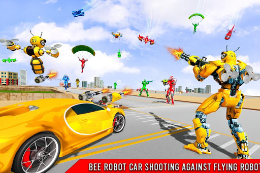 Bee Robot Car Transformation Game: Robot Car Games screenshots 1