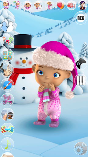 Talking Baby Babsy Winter Fun apktreat screenshots 2